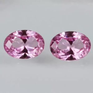 Синтетические рубины розового цвета